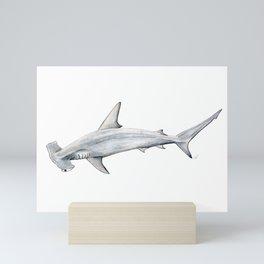 Hammerhead shark for shark lovers, divers and fishermen Mini Art Print
