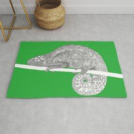Green-Chameleon Rug