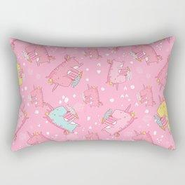 Pink unicorn pattern Rectangular Pillow