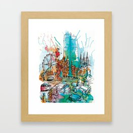 Colours of Melbourne Framed Art Print