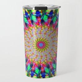 Psychedelic Mandala Colour Burst Travel Mug