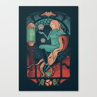 nouveau Canvas Prints featuring Aran Nouveau by Victor Vercesi