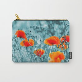 Red Poppy/ Roter Mohn Carry-All Pouch