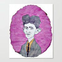 kafka Canvas Prints featuring Kafka by Dandy