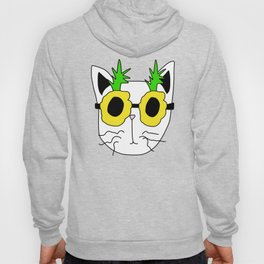 Cat Pineapple Sunglasses Hoody