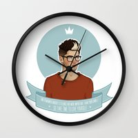 zayn malik Wall Clocks featuring Zayn Malik 2 by vulcains