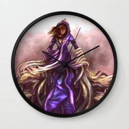 FLYING GIRL, FANTASY MAGIC Wall Clock