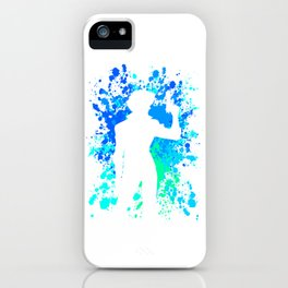 Anime Paint Splater Inspired Shirt iPhone Case