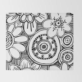 boho garden Throw Blanket