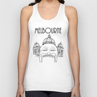 melbourne Tank Tops featuring Melbourne by Jeremy Buckley illustration