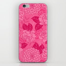 Pink and Magenta Floral Pattern iPhone Skin