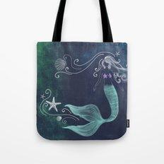 chalk mermaid #2 Tote Bag