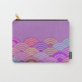 seigaiha wave lilac purple pink colors abstract scales Carry-All Pouch