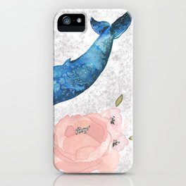Whale Amongst the Roses iPhone Case