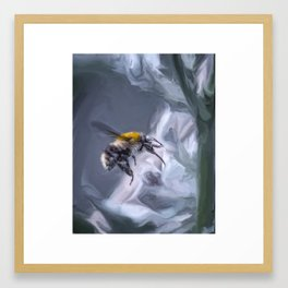 bumblebee mixed media artwork Framed Art Print