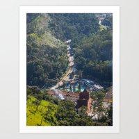 Street in the mountain Art Print