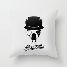 Boston Terrier: The American Gentleman. Throw Pillow
