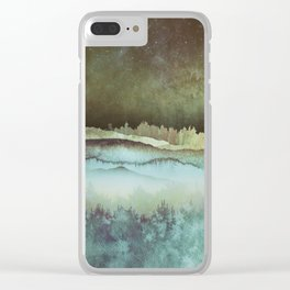 Winter Sky Clear iPhone Case