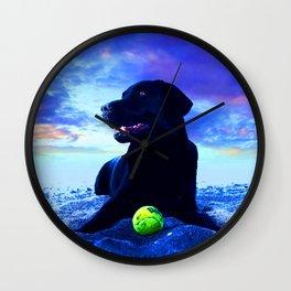 Ziggy Black Labrador Wall Clock
