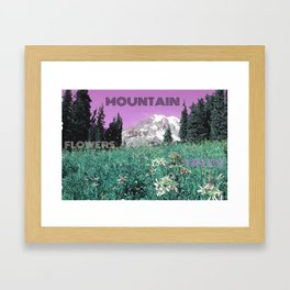 Mount Rainier With A Twist Framed Art Print