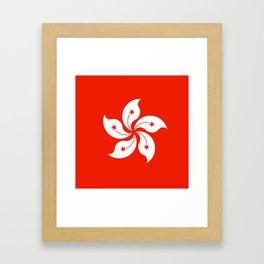 Flag of hong kong Framed Art Print