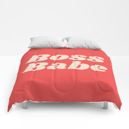 Retro Boss Babe - Coral Comforters