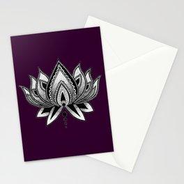 LOTUS FLOWER PURPLE Stationery Cards