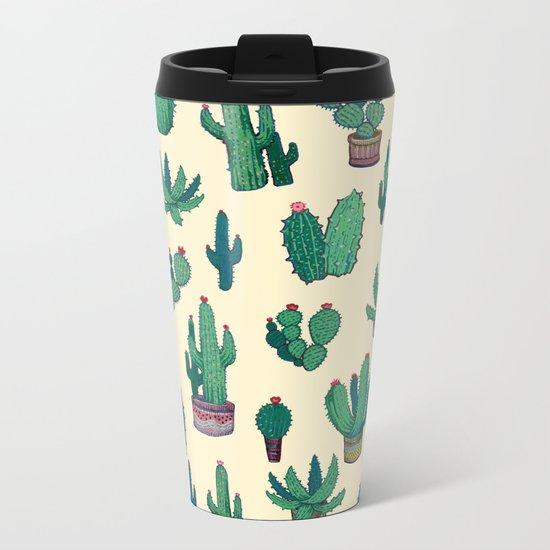 acrylic cactus! Metal Travel Mug