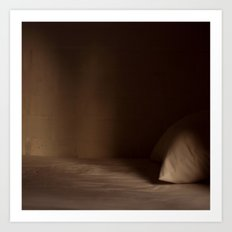 Empty Dark Bed Art Print