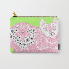 Pink Kitty Carry-All Pouch