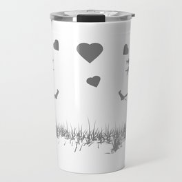 Zombies in Love Gray Travel Mug