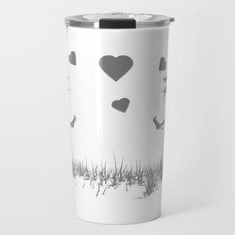 Zombies in Love Gray Travel Mug