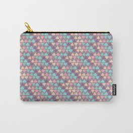 Small Pastel Triangles Carry-All Pouch