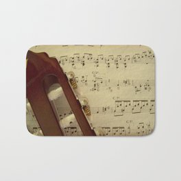 Sheet Music Bath Mat