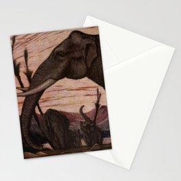 Vintage Elephant Painting (1909) Stationery Cards