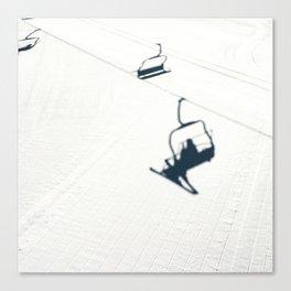 Chair lift shadow Canvas Print