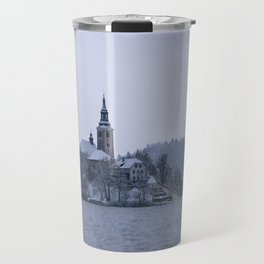 Misty Bled Lake Travel Mug