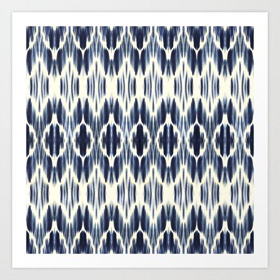 BOHEME INDIGO BLUE Art Print
