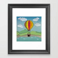 Balloon Aeronautics Sea & Sky Framed Art Print