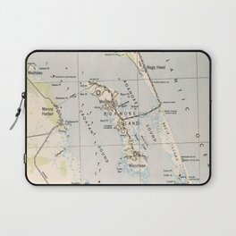 Vintage Map of Roanoke Island & Outer Banks NC Laptop Sleeve