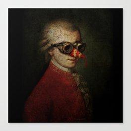 Surreal Steampunk Mozart Canvas Print