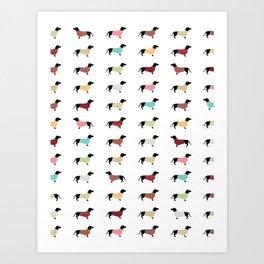 Dachshund - Sweaters #502 Art Print