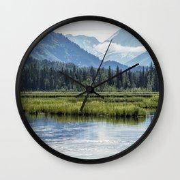 Swans on Tern Lake Wall Clock
