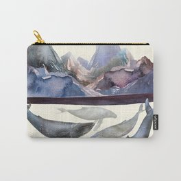 Mountains and Whales Carry-All Pouch