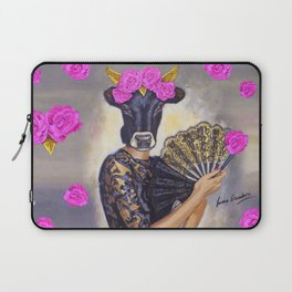 Flamenco-dancer with hand fan Laptop Sleeve