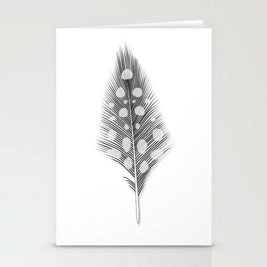 Polka Dotted Feather Stationery Cards