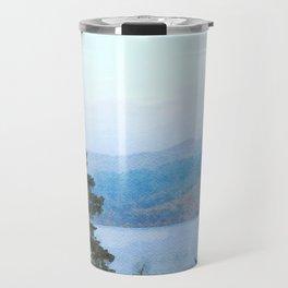 Pine Trees at Thirlmere, Lake District, Cumbria, UK Watercolour Travel Mug