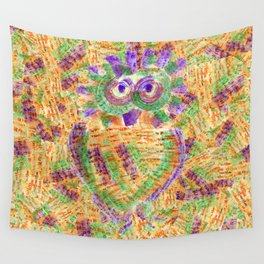 Purple Owl Wall Tapestry