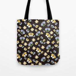 Crisscross Butterflies V.02 - Dark Charcoal Color Tote Bag