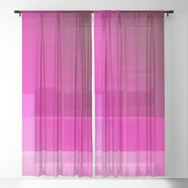 must be pink Sheer Curtain